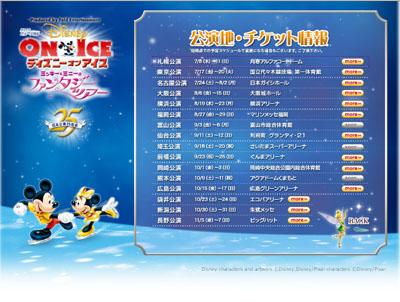 2010 ディズニー・オン・アイス チケット情報