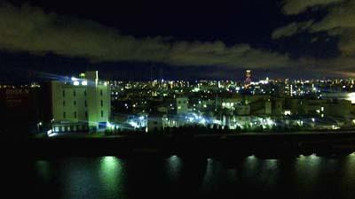 昨日は夜景が綺麗でした。