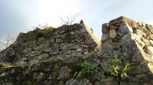 下から城壁を観てみる