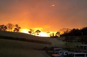 グリーンピア三木の夕焼け